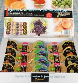 日本エスリードより株主優待(チョイスしたギフト)「巨峰&梅酒&熟果ゼリー プレミアム」が届きました。