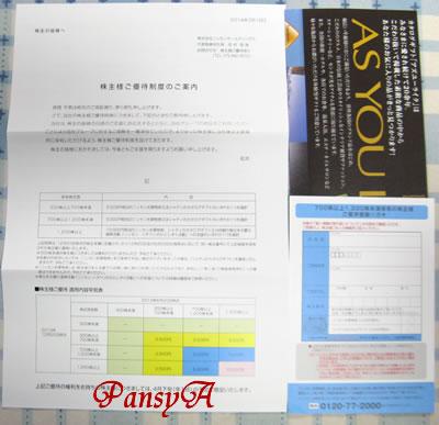 (株)ニッセンホールディングス〔8248〕より株主優待の案内が届きました。