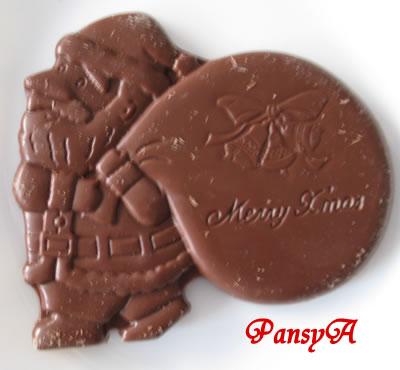 名糖産業(meito)メイトー クリスマスチョコレート 中のチョコレート