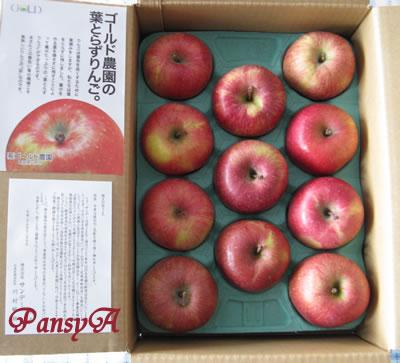 (株)サンデー〔7450〕より株主優待の(青森県弘前市ゴールド農園の)「葉とらずりんご」が届きました