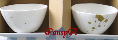 三谷産業(株)〔8285〕より株主優待の、ニッコー(株)製の陶磁器製品「11cmボール1個」(かがの梅鉢紋)(1,500円相当の商品)が届きました。-2