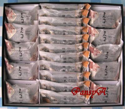 KDDI(株)〔9433〕より、「47都道府県のグルメカタログ」から選択した、「和菓子(きんつば・稲垣)詰合せ」(3000円相当の商品)が届きました。金沢の村上製菓所の和菓子です。