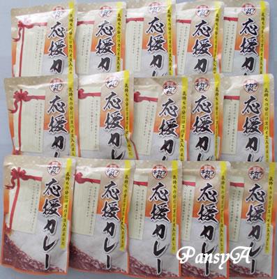 (株)三光マーケティングフーズ〔2762〕より「株主ご優待券(プラチナ)」(6枚)と交換した「東京チカラめし」謹製カレー15食入りが届きました。