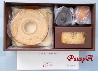 アイ・ケイ・ケイ(株)〔2198〕より株主優待の「 BON'CINQ(ボンサンク)石村萬盛堂」の洋菓子(1500円相当)が届きました。
