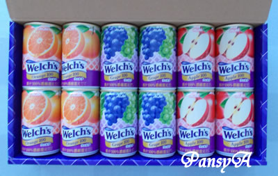 (株)FJネクスト〔8935〕より選択した株主優待の「ウェルチ ジュースセット」が到着しました。百貨店セレクトの優待商品(1500円相当)より選択しました。