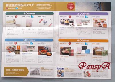 萩原工業(株)〔7856〕より「株主優待商品カタログ」が到着しました。