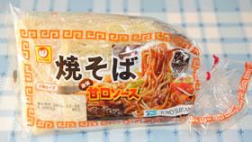 マルちゃんの「太麺タイプ焼そば(液体甘口ソース)」3人前