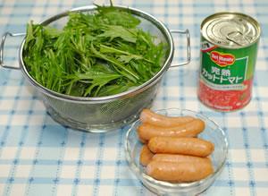 大皿で♪粗挽きウインナーの焼そば(チーズのせ)☆トマト風味☆【マルちゃんで焼そばパーティ#7】材料