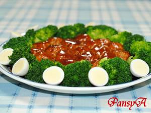 大皿で♪ふんわり豆腐のミートボール ☆デミグラス味☆【日本食研さんの2品を使ったパーティレシピ】