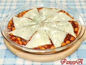 大皿で♪ふんわり豆腐のハンバーグ ☆デミグラス味☆【日本食研さんの2品を使ったパーティレシピ#2】