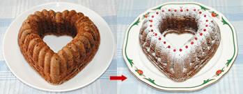 シナモン香る♪ハートのチョコレートケーキ☆