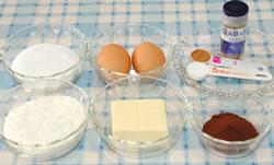 ハートの♪チョコレートマドレーヌ☆の材料
