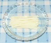キュウリ・かにかま・チーズのサラダ☆ミニトマト添えの作り方