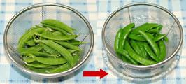 「レタスと蟹とスナップエンドウのサラダ」の作り方