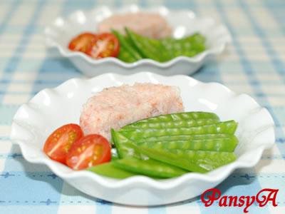 さやえんどうと蟹とキュウリのサラダ☆ミニトマト添え【味わいすっきり♪ゆずドレッシングで】