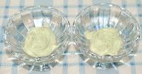 抹茶入り生クリームの中に♪サクレレモン☆いちご添えの作り方
