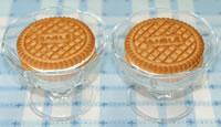 サクレレモンで♪アイスクッキーケーキ☆いちご添えの作り方