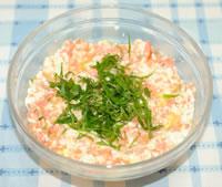 ふんわり♪鮭の炒り豆腐☆大葉風味の作り方